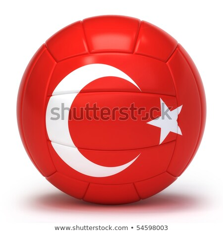 Turks volleybal team geïsoleerd vlag Stockfoto © bosphorus