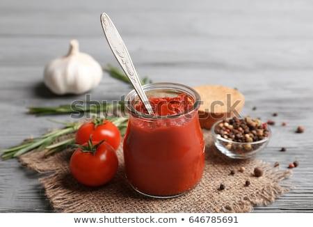 Tomates especias fondo taza blanco Foto stock © Masha
