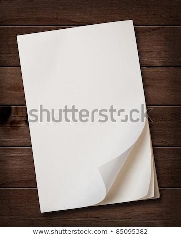jegyzetek · öreg · fából · készült · üzlet · fa · narancs - stock fotó © inxti