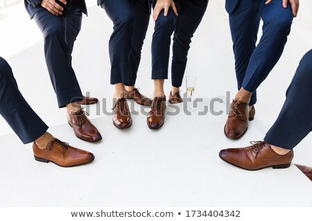 Businessman stood with glass of champagne Stock photo © photography33