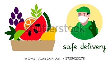 Komik karpuz kutu meyve vektör karikatür Stok fotoğraf © pcanzo