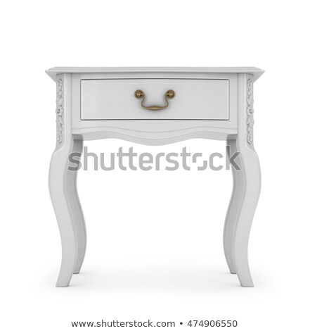 old small bedside table isolated stock photo © ozaiachin