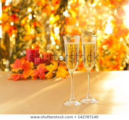 Champagne occhiali lesbiche sesso decorazione wedding Foto d'archivio © 3523studio