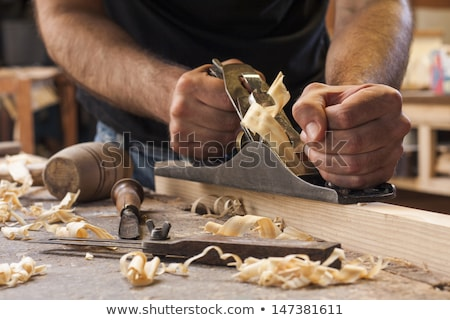 closeup of carpenter working on workbench Stock photo © photography33