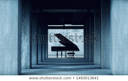 Stockfoto: Zwarte · zonnestraal · muziek · musical · partij · achtergrond