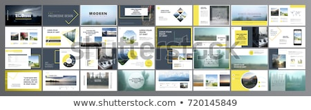 Infographic template design - Original geometric paper shapes with shadows. Ideal to display data an Stock photo © DavidArts