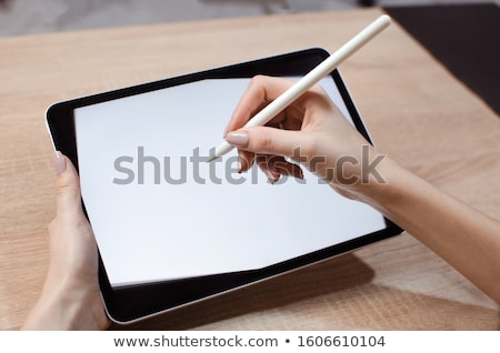boy with a sketch-pad Stock photo © val_th