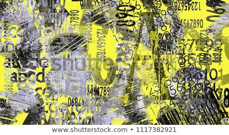 Grunge abstract digitale collage ruimte Stockfoto © Lizard