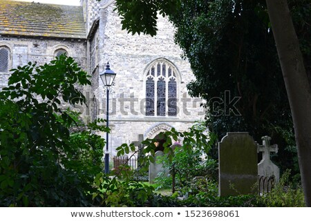 kerk · oude · kerkhof · gras · god · toren - stockfoto © antonio-s