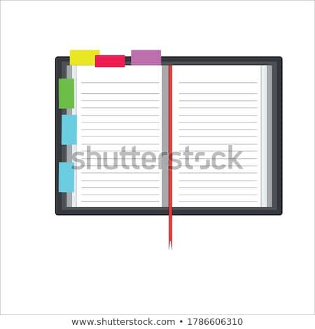 Notebooka zakładki szkoły tle Uwaga rysunek Zdjęcia stock © oly5