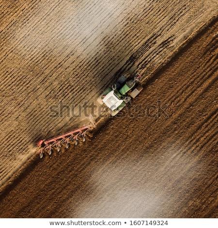 Traktör pulluk tarım alan teknoloji sanayi Stok fotoğraf © Mikko