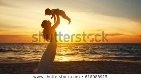baby on sunset beach Stock photo © Paha_L