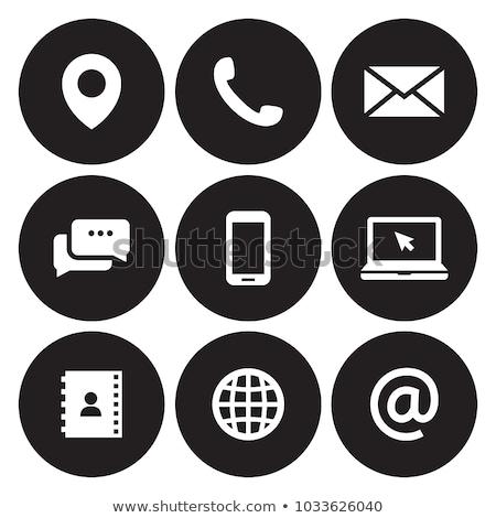синий · электронная · почта · икона · знак · интернет · контакт - Сток-фото © marinini