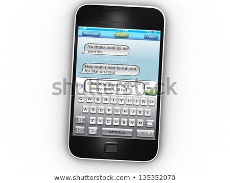 Stock photo: Poor Grammar And Bad Spelling In The Mobile