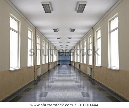 Folyosó ablak szép fény belső mediterrán Stock fotó © lunamarina