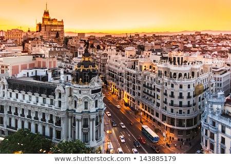 Madrid Spanyolország világváros épület klasszikus iroda Stock fotó © Bertl123