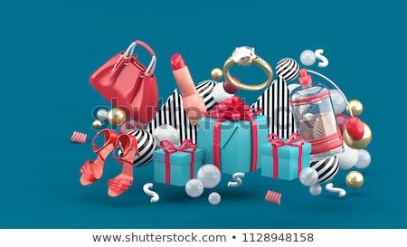 vásár · piros · nyomtatott · szív · felirat · bolt - stock fotó © balasoiu