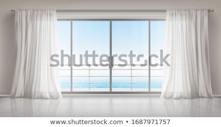 Railing overlooking sea Stock photo © zzve