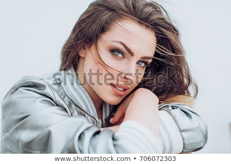 Сток-фото: моде · элегантный · женщину · красное · платье · брюнетка · Lady