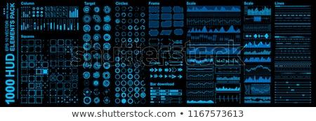 Futurista interface gráfico de negócio traçar arte negócio Foto stock © kentoh