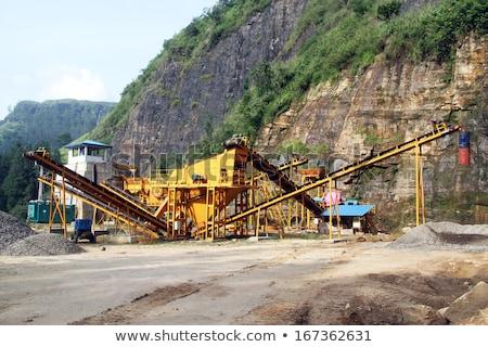 Conveyor on site at gravel pit Stock photo © meinzahn