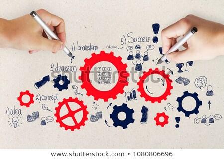 подготовки Vintage дизайна Purple бизнеса кадр Сток-фото © tashatuvango