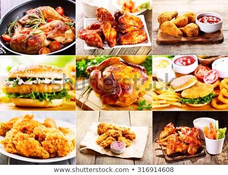 Kolaj tavuk ürünleri gıda et Stok fotoğraf © Virgin