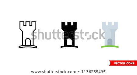 three medieval knights isolated on grey background stock photo © nejron