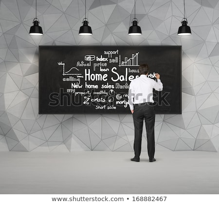 real estate concept sold sign people and home stock photo © designers