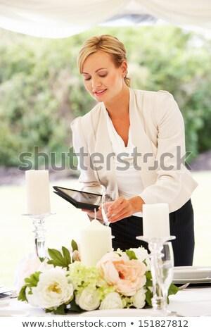 esküvő · tervező · nő · szervez · lány · autó - stock fotó © monkey_business