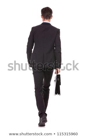ビジネスマン 戻る 胴 孤立した ストックフォト © dgilder