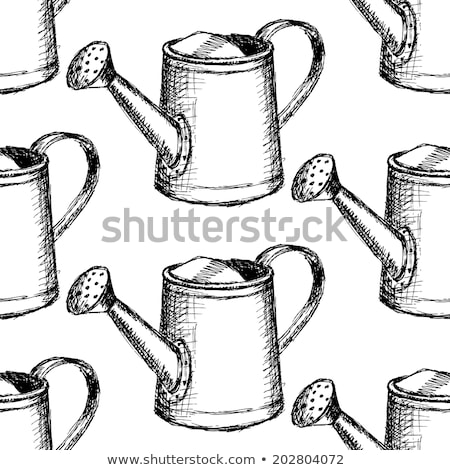 sketch watering can vector seamless pattern stock photo © kali