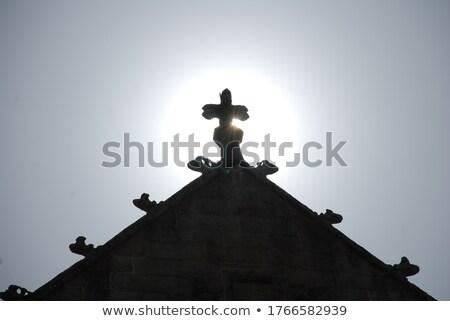 Tour croix vertical vue blanche Photo stock © 1Tomm