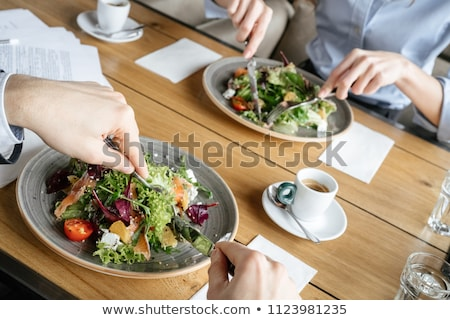 Table appointment at restaurant close-up Stock photo © amok
