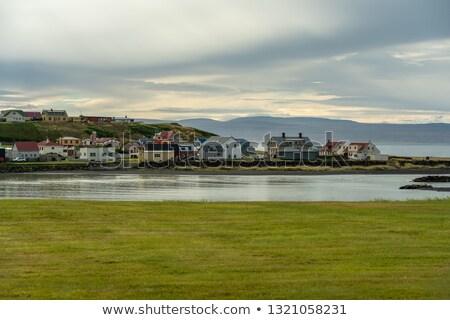 桟橋 · 海岸 · 小 · 釣り · 村 - ストックフォト © alexeys
