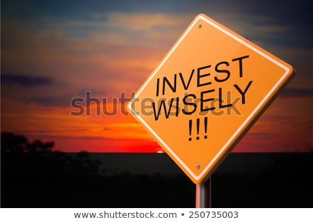 Invest Wisely on Warning Road Sign. Stock photo © tashatuvango