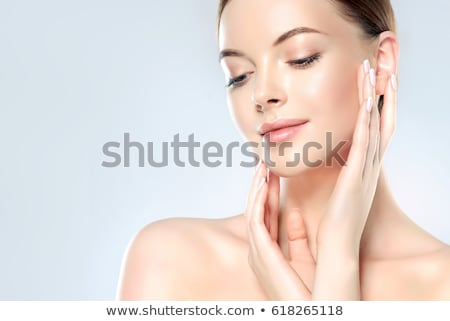 Stok fotoğraf: Kadın · kozmetik · tedavi · salon · yüz
