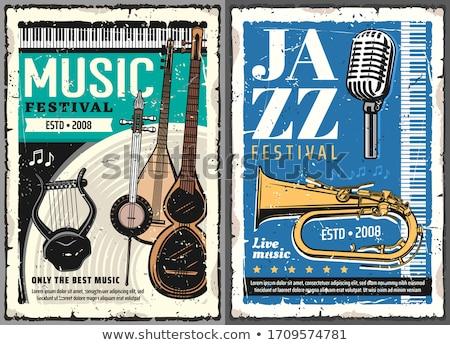 Vintage изолированный белый музыку древесины ретро Сток-фото © gemenacom