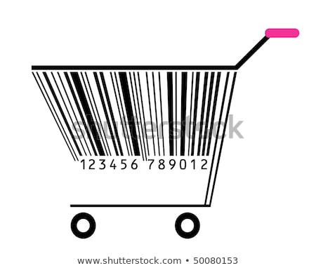Shopping cart with barcode stock photo © flipfine