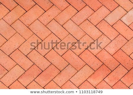 Stock photo: Red Brick Floor Background