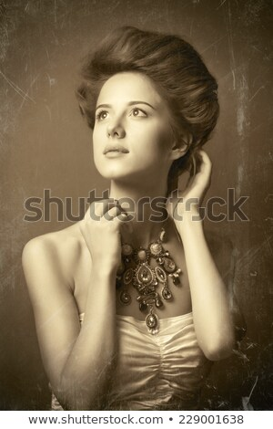 Style rétro photo joli dame fille femme Photo stock © majdansky