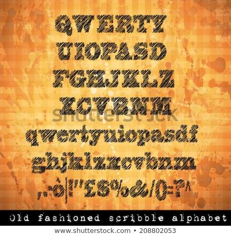 Foto stock: Alfabeto · pluma · boceto · efecto · números · todo