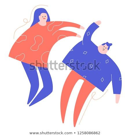 Weird paar man vrouw poseren Stockfoto © Giulio_Fornasar