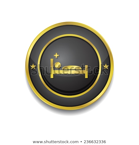 Heath Care Bed Gold Vector Icon Button Stock photo © rizwanali3d