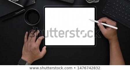 Компьютерный монитор пусто белый экране eps10 компьютер Сток-фото © LoopAll