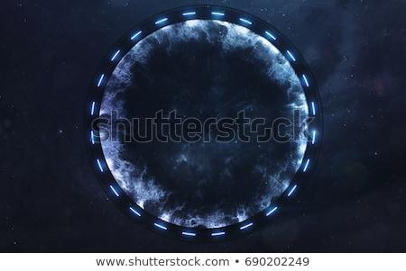 űr kapu tudományos fantasztikum illusztráció idegen űrhajó Stock fotó © guffoto
