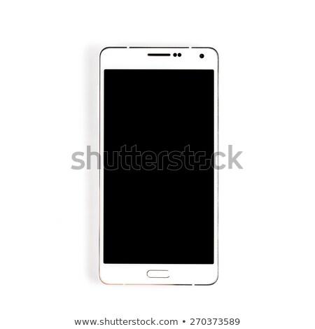 téléphone · portable · court · blanc · noir · image · téléphone - photo stock © njnightsky