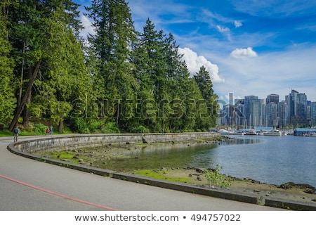 Vancouver downtown from Stanley park boardwalk Stock photo © eddygaleotti