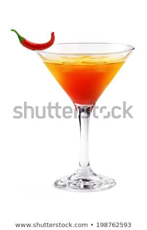 Cam biber votka kırmızı yalıtılmış Stok fotoğraf © tetkoren
