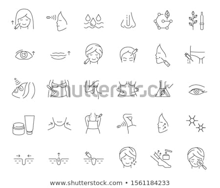 Plastic surgery, beauty vector icons set    Stock photo © RedKoala